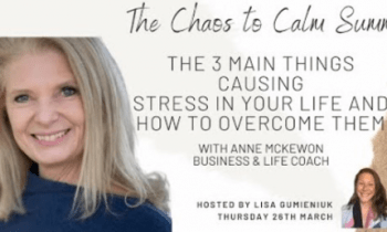 The 3 Main Things Causing Stress In Your Life And How To Overcome Them with Anne McKewon