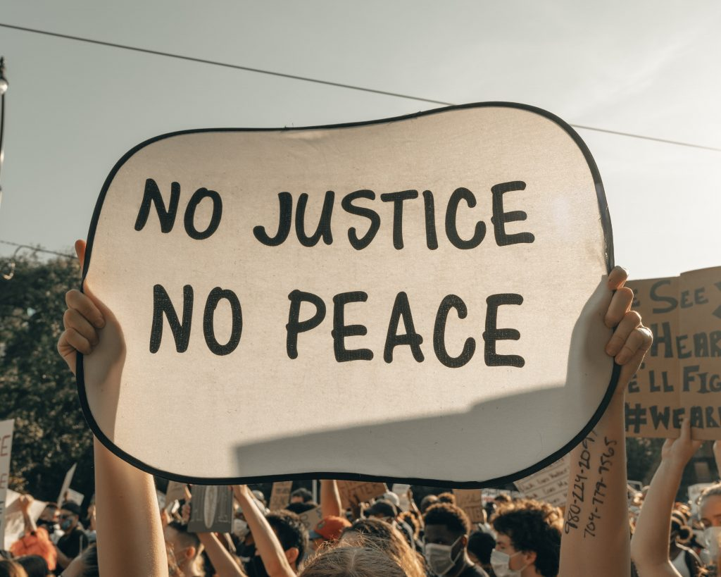 justice and peace banner
